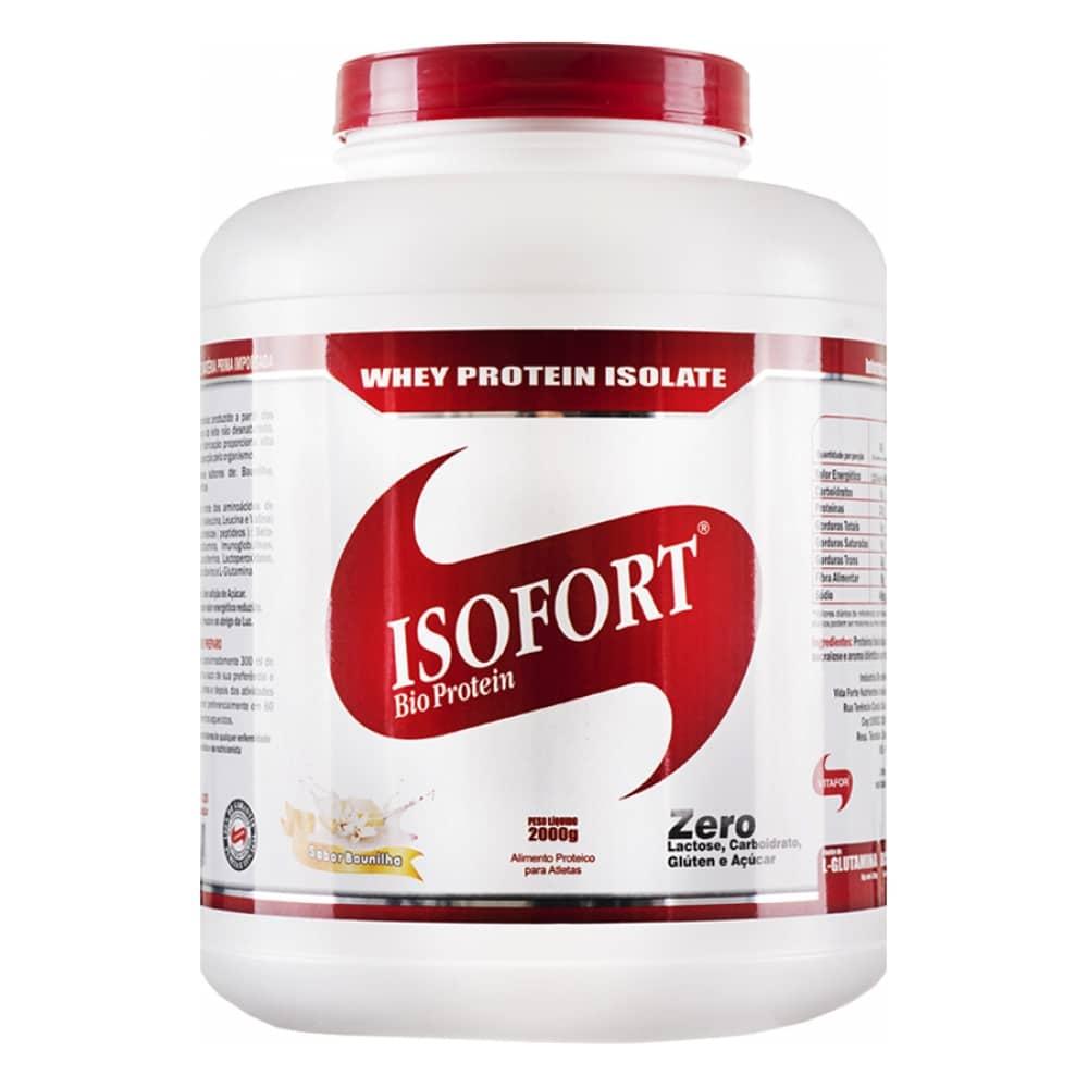 Melhor Whey Protein para comprar em 2017 - Whey protein Isofort da Vitafor