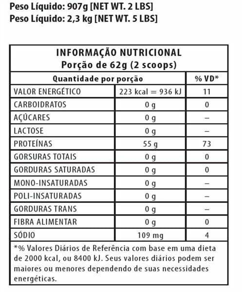 40061874f Informação Nutritional - ISO Whey Lowcarb Integralmedica