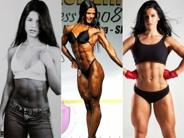 Eva Andressa antes e depois
