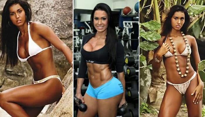 Gracyanne Barbosa Antes e Depois de treinar